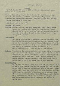 Rapport etter brannen i Rådhuset, Torbjørn Låg 17.08.1976 s. 1