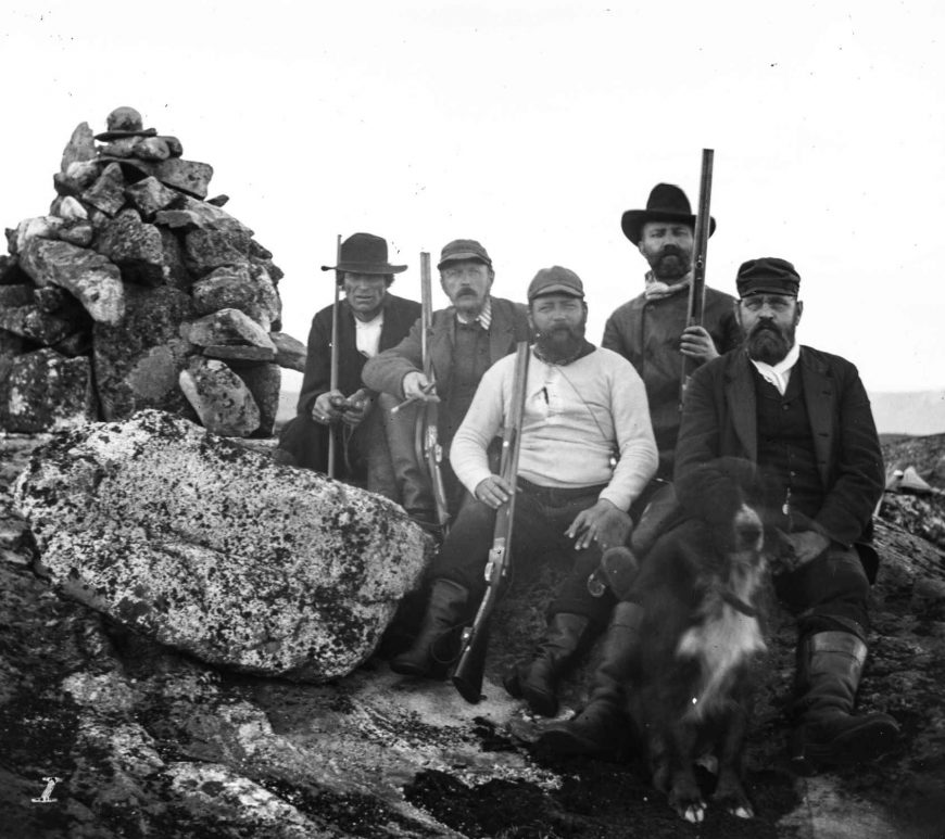 Thor Eppeland, Jacob Aall, Peter Eyde, Oscar Herlofson og doktor Frederik Blich på Kallingsheia