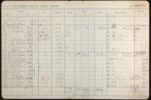 Kartotekkort fra Grimstadfrø AS Sukkerert Tidlig grønn sabel