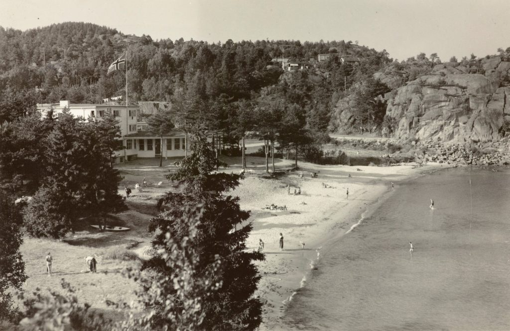 Stranden ved Strand Hotel Fevik