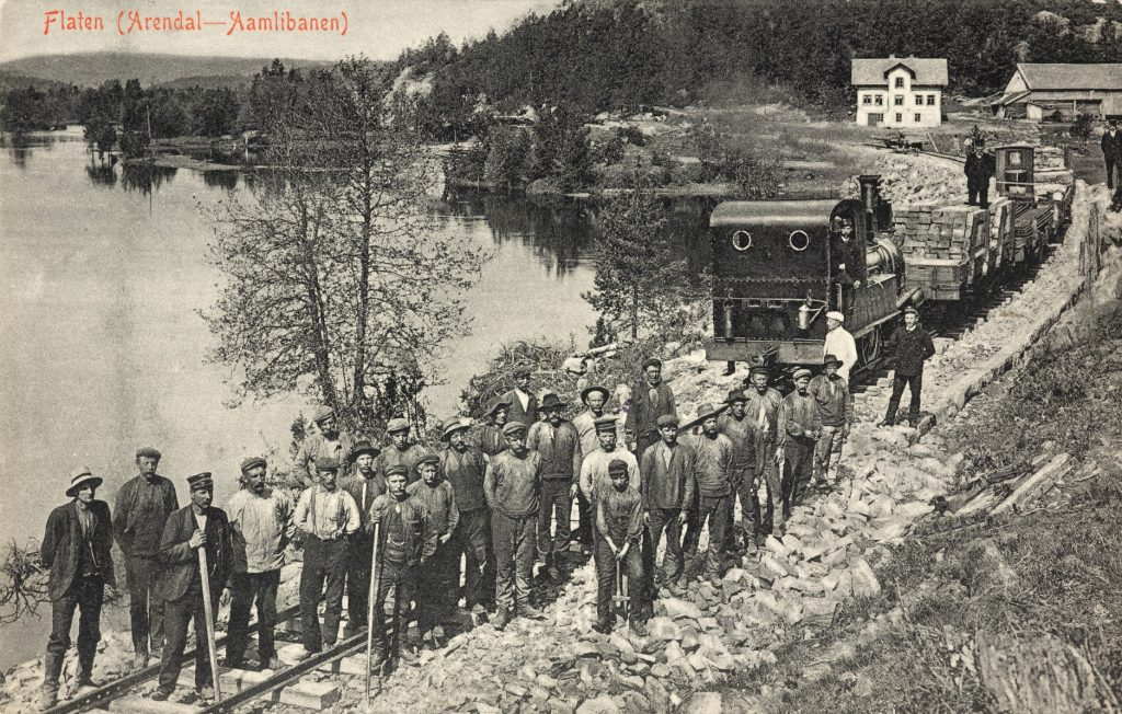Arbeidsstokk på Arendal - Åmlibanen ved Flaten