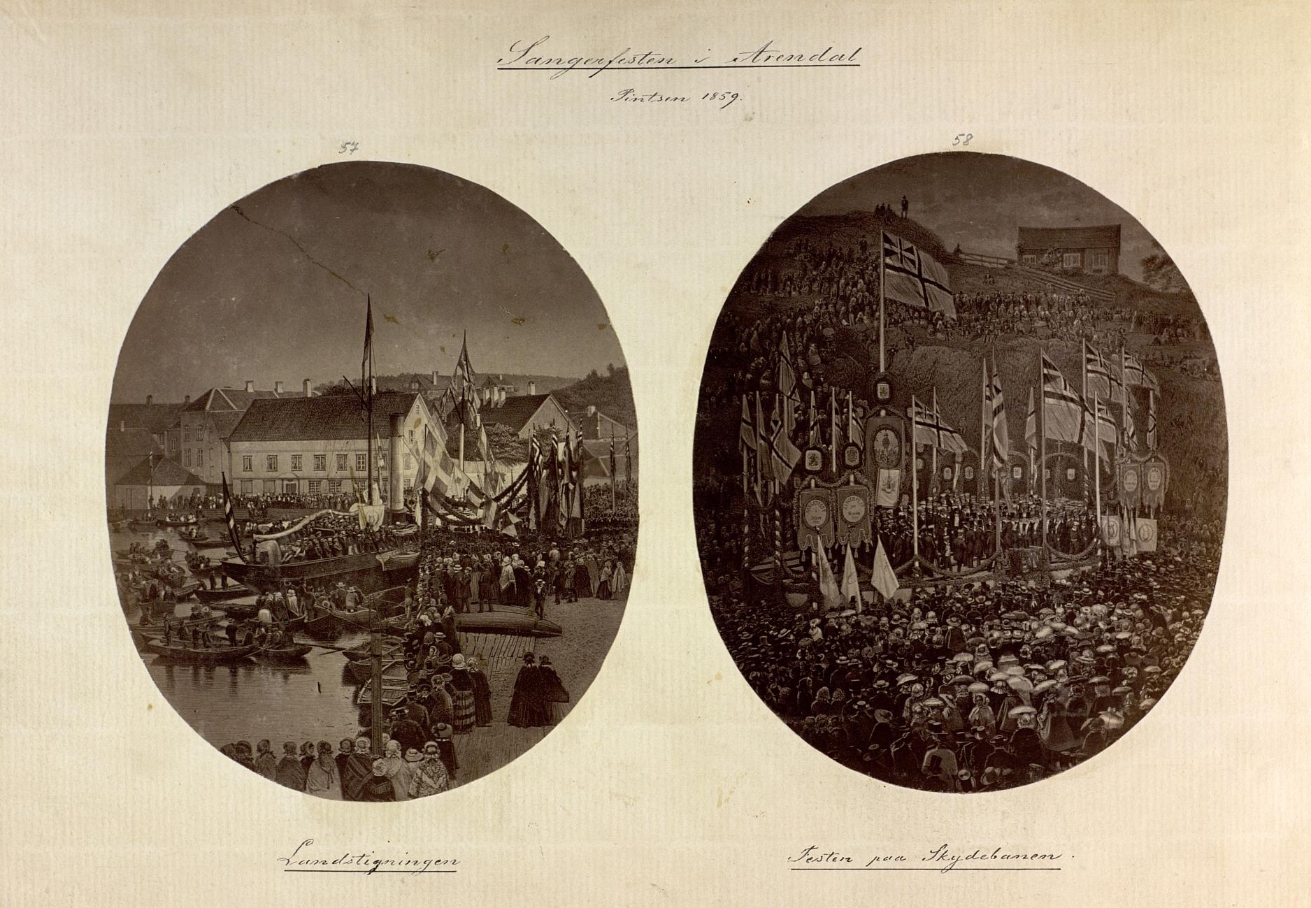 Den store sangerfesten i Arendal 1859