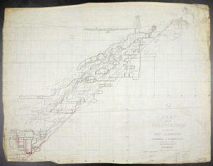 Hovedprofil av Flåt gruve 1904