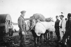 Norske frivillige i Akureyri på Island i 1942