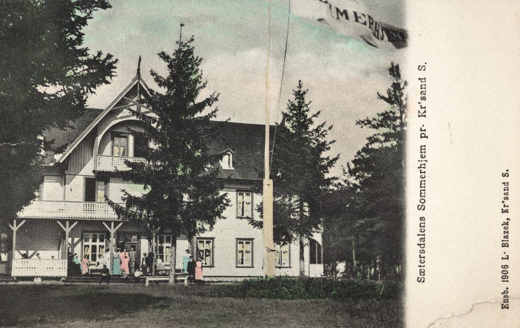 Sæterdalens Sommerhjem 1906. Foto: L. Blazek