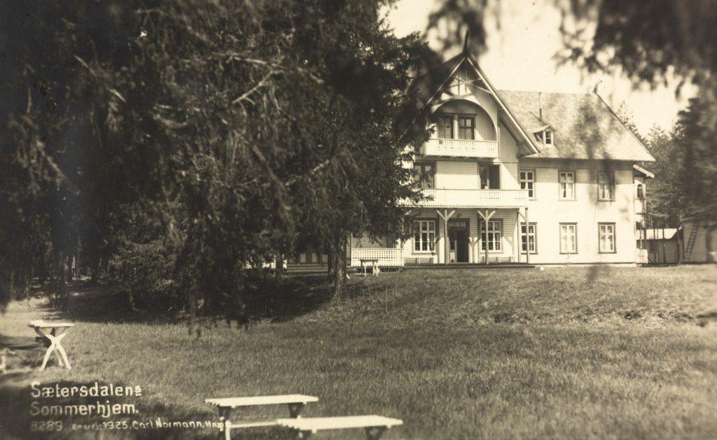 Sæterdalens Sommerhjem 1925. Foto: Carl Normann