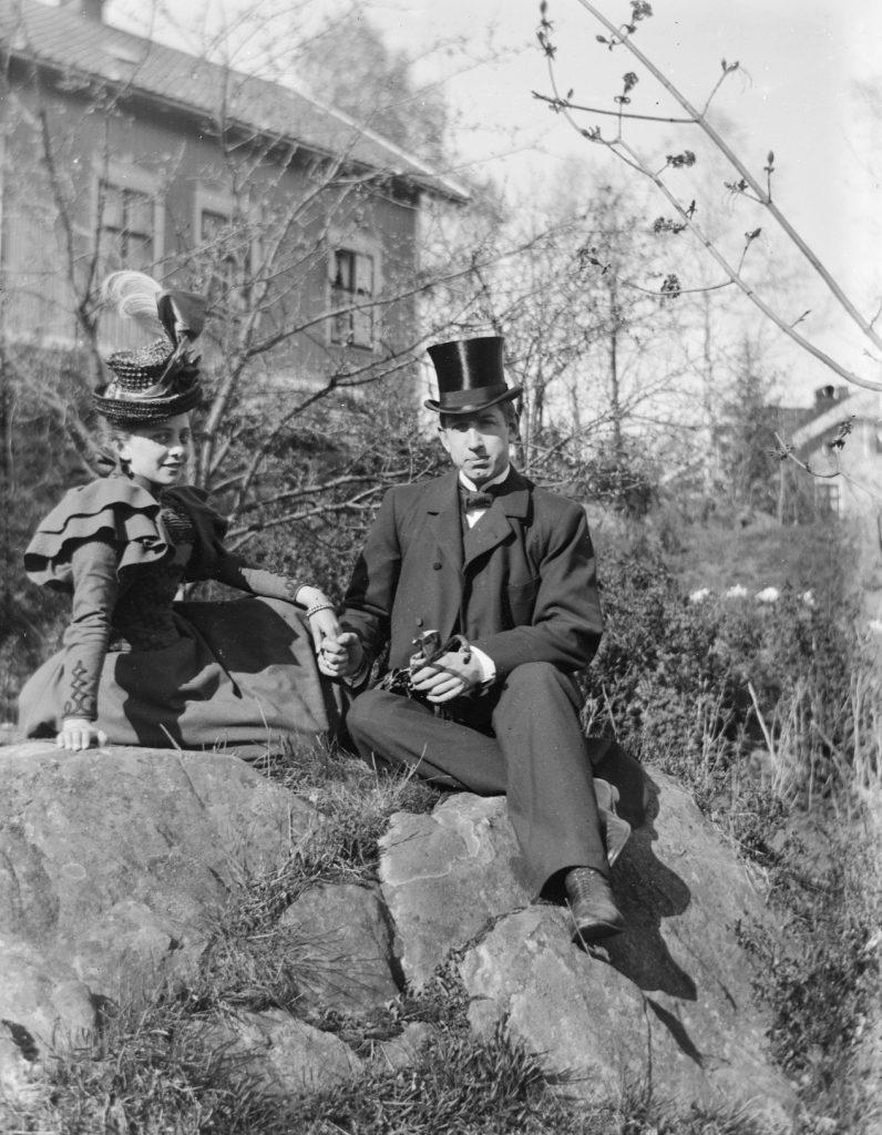 Thyra og Josef Gustav Emil Hammer som nygifte på Vollene i september 1898