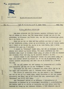 Kvernaasposten 1949 2. årgang nr. 1. s. 1