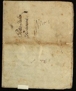 Avskrift av Peter Dahls testamente 28.09.1787