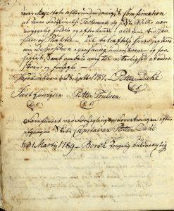 Avskrift av Peter Dahls testamente 28.09.1787 s. 13
