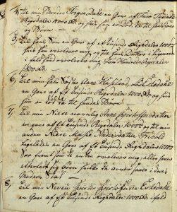 Avskrift av Peter Dahls testamente 28.09.1787 s. 3