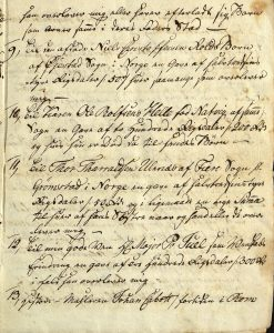Avskrift av Peter Dahls testamente 28.09.1787 s. 4