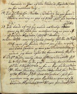 Avskrift av Peter Dahls testamente 28.09.1787 s. 5