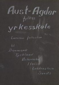 Fotoalbum fra lærernes fellestur - Aust-Agder fylkes yrkesskole forisde