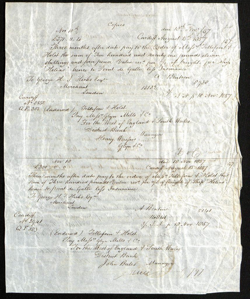 Notary Public 18. november 1857 bakside
