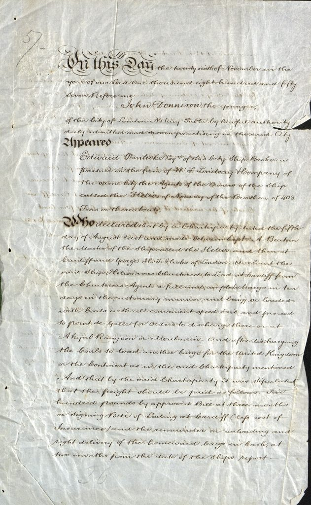 Notary Public 26. november 1857 s. 1