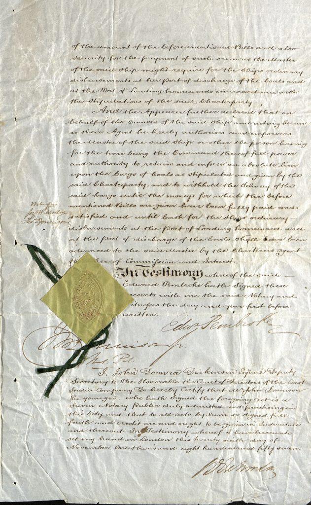 Notary Public 26. november 1857 s. 3