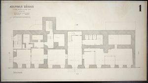 Oppmålingstegning av Arendal rådhus mai 1942 Ugland & Thorne 1. etg
