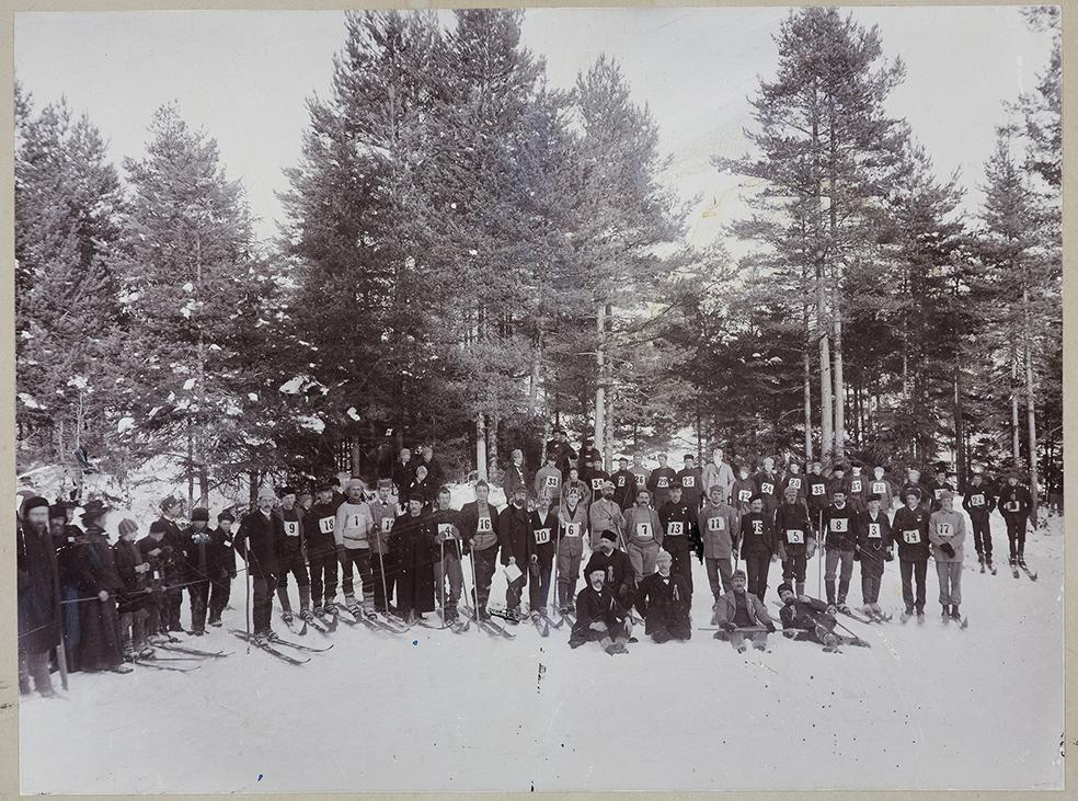 Skirenn på Gaasasen vinteren 1897
