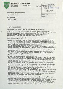Høringsuttalelse om valg av fylkesstein for Aust-Agder fra Birkenes kommune