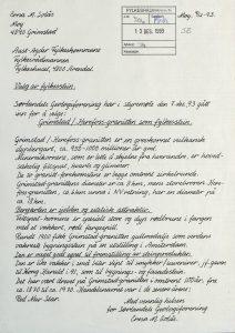 Høringsuttalelse om valg av fylkesstein for Aust-Agder fra Sørlandets Geologiforening 09.12.1993