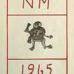 Elevhefte over NM på skøyter 1965 forside