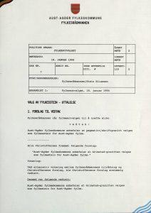 Møtereferat Fylkesutvalg 18.01.1994 - Valg av fylkesstein vedtak