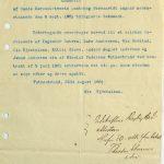 Erklæring vedrørende søk og drift på apatitt på Vatnestrand - Utskrift av Sands Sorneskriveris pantebog 08.09.1881
