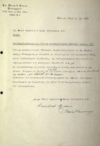 Overtagelse M/F Øisang 01.12.1950