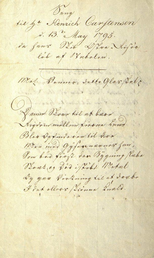 Sang til stabelavløpning Østre Risør 14.05.1795 s. 1