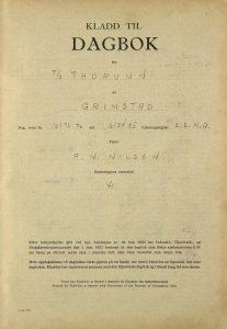Kladd til dagbok for TT «Thorunn» 1956 og 1957