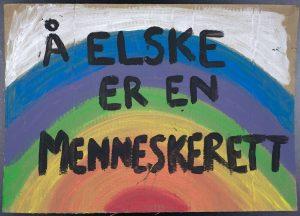 Plakat fra Lillesand Pride 23. august 2019