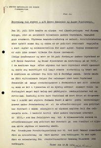 Beretning til styret i Østre Søndeled og Risør Fjordruter 13.01.1955