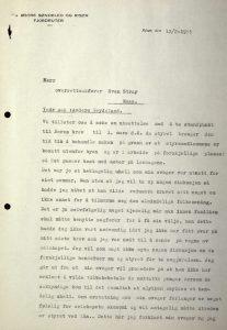 Brev til Svenn Stray fra Østre Søndeled og Risør Fjordruter 12.02.1955 s. 1