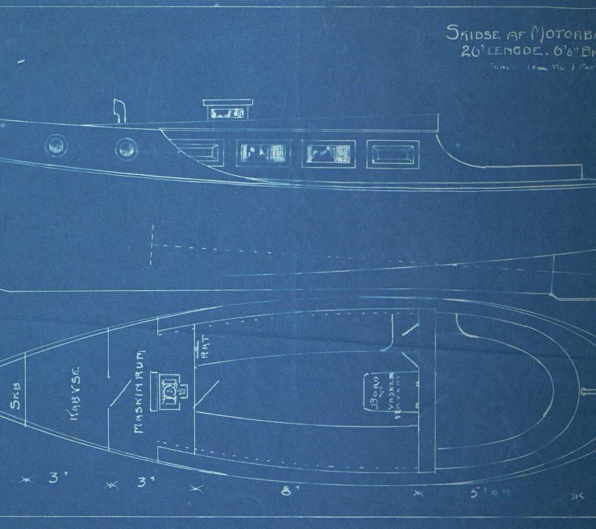 Tegning 151 Kolbjørnsvik Baatbyggeri 1913