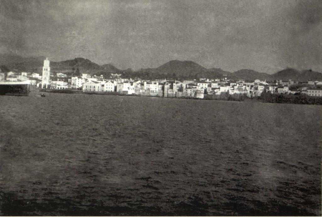 """""""Skaregrøm"""" ankommer Ponto Delgado 1926"""