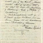 Avskrift av brev fra Gustav Vigeland til Larpent 19.03.1905 s. 2