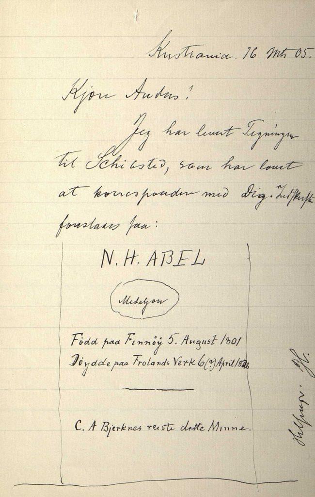Brev fra Jørgen Løvland til Anders Løvland 16.03.1905