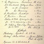 Regnskap for reisning av Abel-bautastenen Frolands Verk