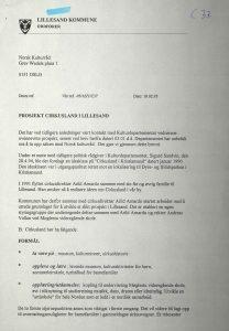 Brev fra Lillesand kommune til Norsk Kulturråd om Cirkusland 10.02.1995 s. 1