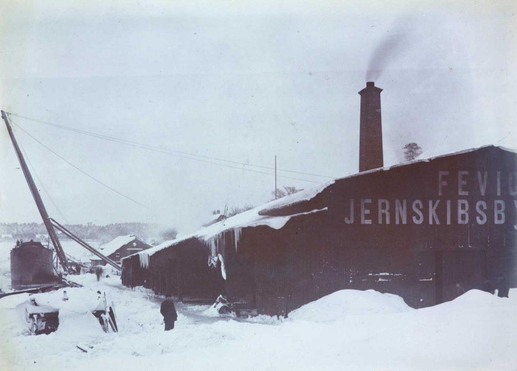 Fevig Jernskibsbyggeri rundt 1900