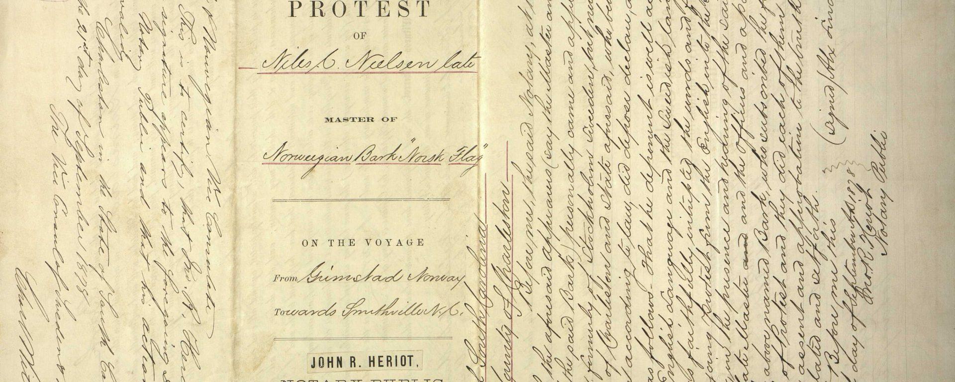 Protest of Niels C. Nielsen Norsk Flag 1878 s. 4