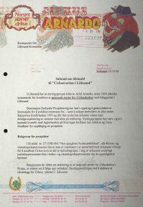 Søknad om tilskudd til Cirkusverden i Lillesand 16.10.1996 s. 1