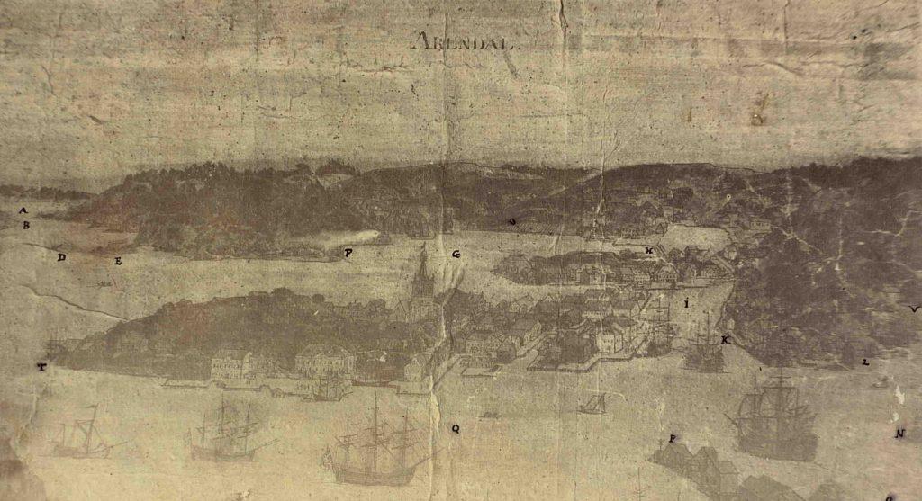 Arendal rundt 1750. Jean Neuwert