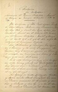 Beretning fra bestyrelsen i Dyrenes beskyttelse i Arendal og Omegn 11.05.1892 s. 1