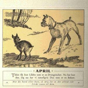 Dyrebeskyttelsens kalender 1932 april