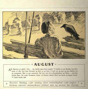 Dyrebeskyttelsens kalender 1932 august