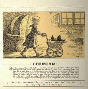 Dyrebeskyttelsens kalender 1932 februar