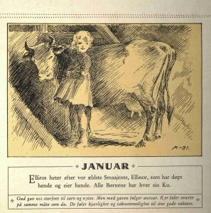 Dyrebeskyttelsens kalender 1932 januar