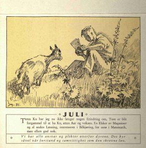 Dyrebeskyttelsens kalender 1932 juli